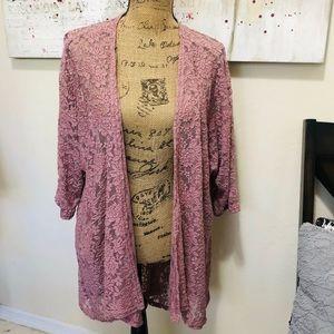 LuLaroe Lindsey lace kimono cardigan size m